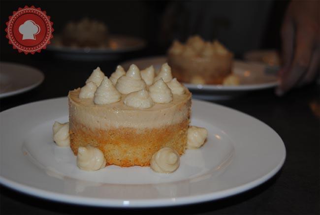 Une recette inédite de Marie Meunier de la Michalak masterclass, le Dulcey café blanc