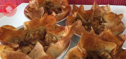 Une recette de tartelettes aux pommes sur feuilles de brick, originales et légères, faites-vous plaisir sans culpabiliser !