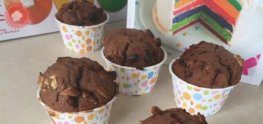 La recette très gourmande de muffins aux 3 chocolats hyper gonflés et chocolatés