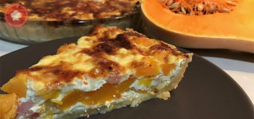 Une recette de quiche originale, la quiche au butternut, lardons et oignons facile à réaliser