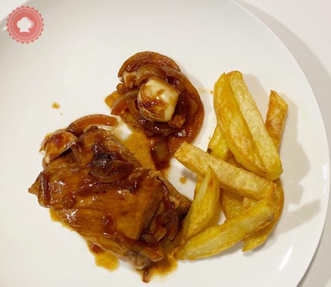travers de porc au four sauce barbecue