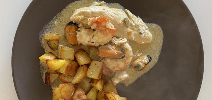 poulet aux fruits de mer
