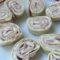 Toasts roulés de wraps au tartare et jambon